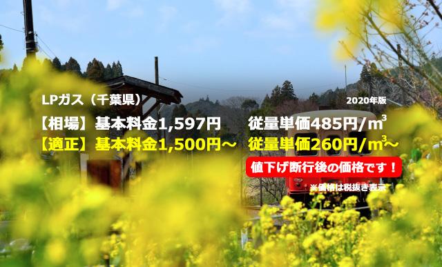 千葉県大網白里市LPガス相場と適正/小湊鉄道
