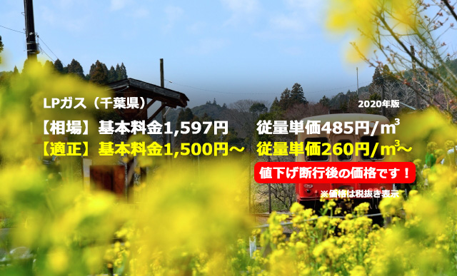 千葉県匝瑳市LPガス相場と適正/小湊鉄道