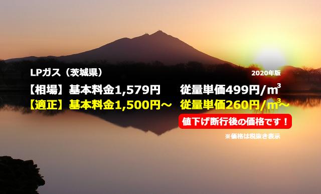 茨城県坂東市LPガス相場と適正/筑波山