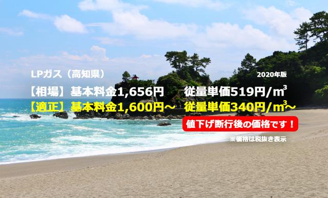 高知県香美市LPガス相場と適正/桂浜