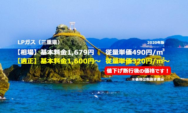 三重県度会郡玉城町LPガス相場と適正/二見興玉神社 夫婦岩