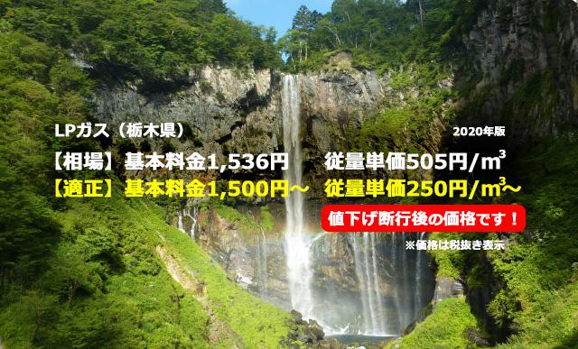 栃木県矢板市LPガス相場と適正/華厳の滝
