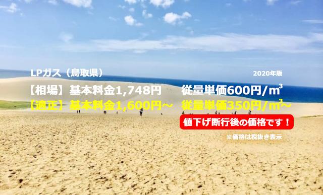 鳥取県鳥取市LPガス相場と適正/鳥取砂丘