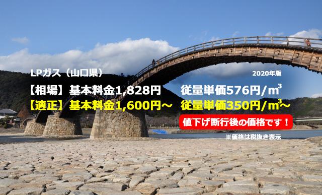 山口県柳井市LPガス相場と適正/錦帯橋