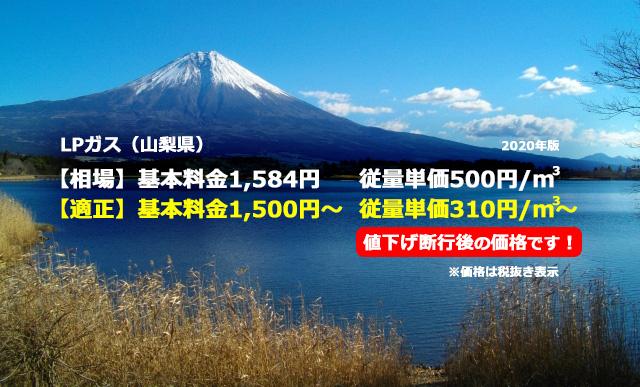 山梨県甲府市LPガス相場と適正/本栖湖 富士山