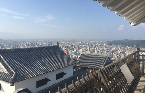 松山城から見た松山市内